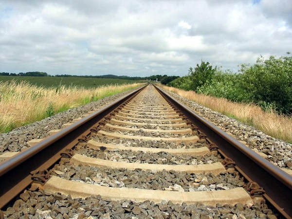 """Railroad tracks illustrating article by Richard Klass about New York's Labor Law Section 240 known as the """" Scaffolding Law """" and legal malpractice."""